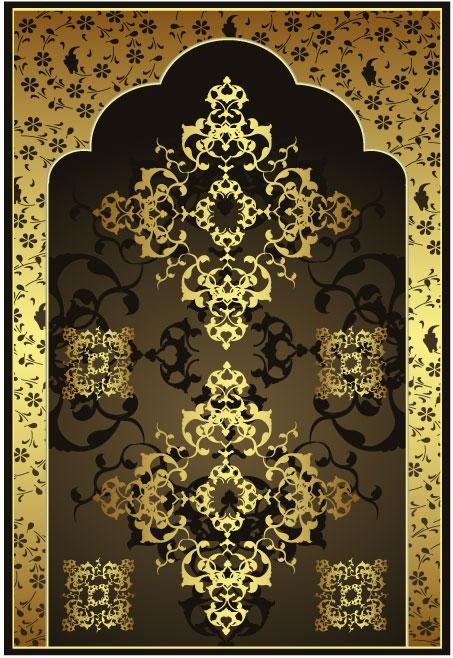 eps格式 ,含jpg预览图,关键字:矢量图库, 花纹,门形状,金色,gold,欧式