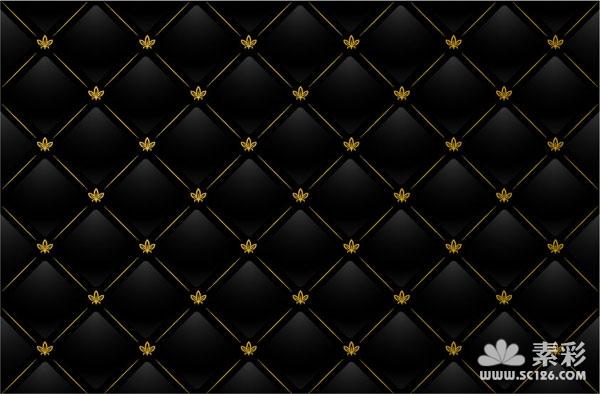 标签:花纹 时尚 欧式 黑色 背景 方格 线条 格子 素材 矢量 平铺背景
