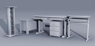 3D办公家具组合模型1-1套