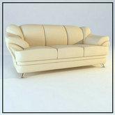俄罗斯现代家具-舒适皮质沙发
