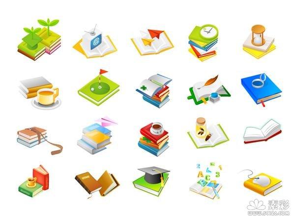 ai格式,含jpg预览图,关键字:矢量 , 书籍,鼠标,植物,咖啡杯,统计表