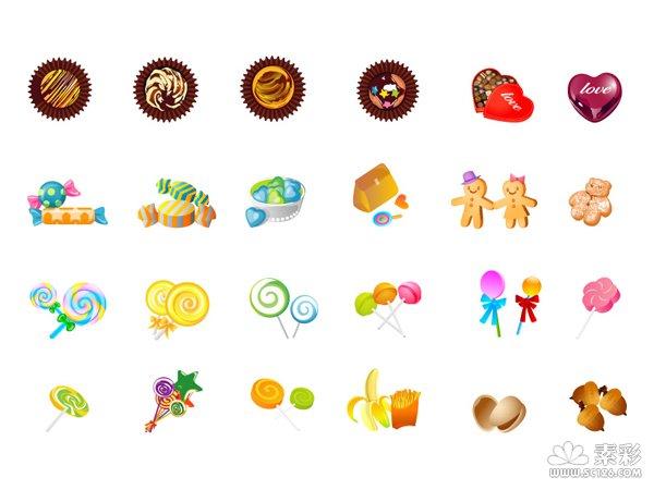 糖果图标矢量图图片
