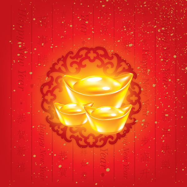 psd格式,含jpg图,关键字:psd素材,金元宝,财运,碎金红纸,黄金,花纹