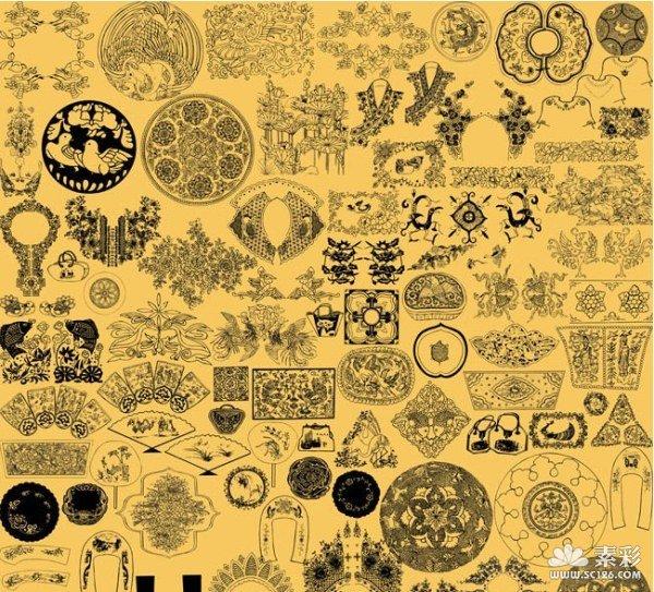 欧式立体刺绣图纸