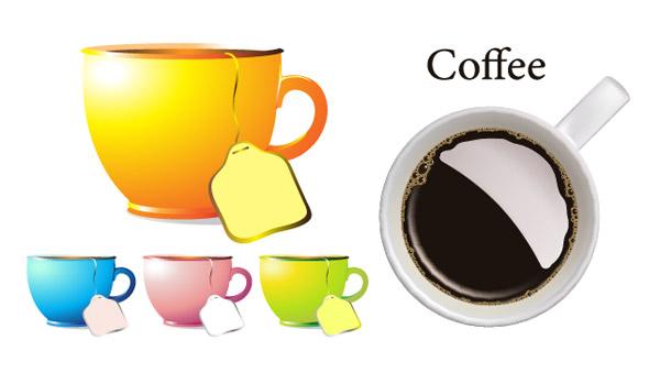 茶杯,咖啡杯,杯子,coffee,茶包,饮品,矢量图,设计素材,eps格式