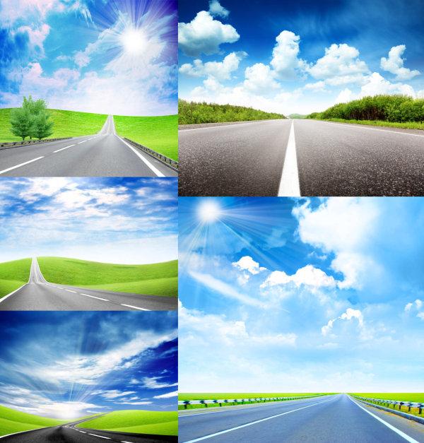 无车的马路风景高清图片