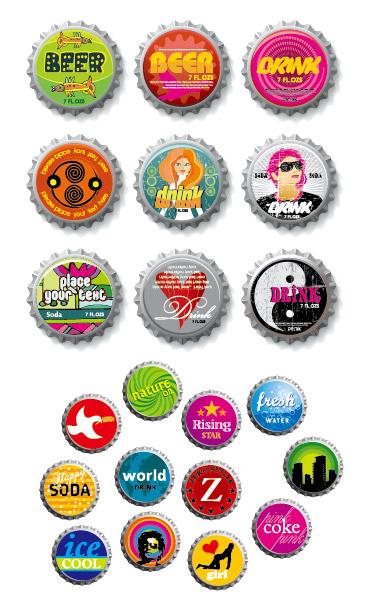 啤酒盖,人物,beer,小鸟,八卦,建筑,头像,旋转,图形,矢量图,设计素材