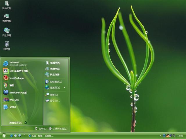 素彩网收集,该主题元素:萌芽,植物,绿叶,绿色,萌芽电脑主题,植物电脑