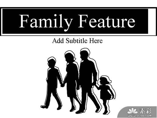 国外幸福家庭人物ppt模板