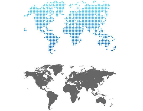 点状地图世界地图矢量图图片