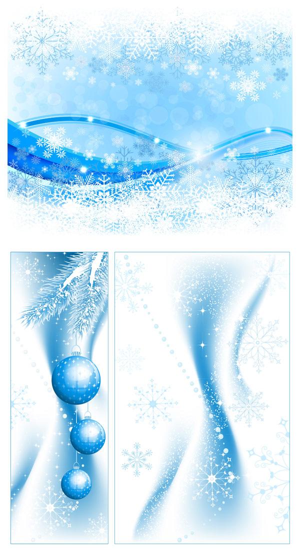 淡雅,彩球,淡蓝,圣诞节,雪花,星星,矢量图,背景,矢量图,设计素材,eps