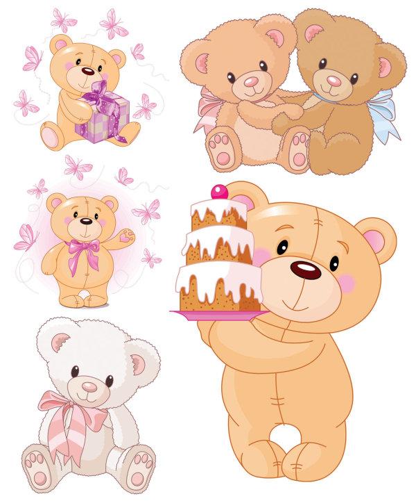 卡通可爱小熊矢量图
