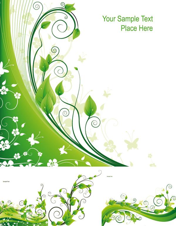 枝蔓,矢量图,蝴蝶,树叶,弯曲,缠绕,剪影,透明度,露水,淡雅,,设计素材