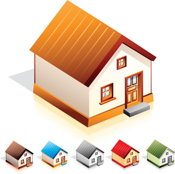小房子图标矢量图