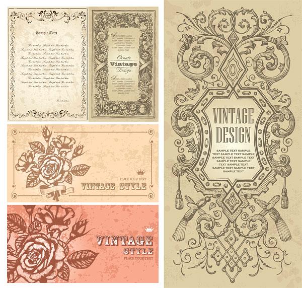欧式,古典,花纹,边框,花边,玫瑰花,华丽,矢量图,设计素材,eps格式