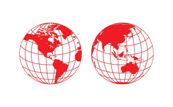 民族风地球剪纸矢量图