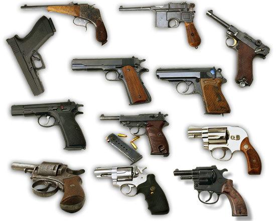 军事武器手枪枪支psd素材