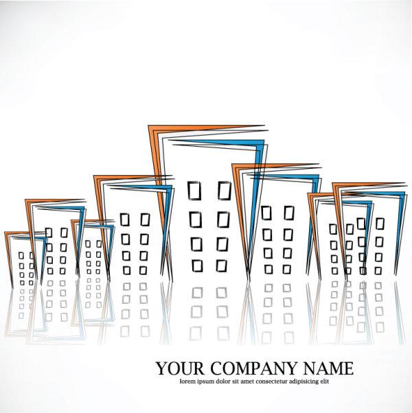 建筑,房地产,简笔画,图形,高楼,背景,矢量图,设计素材,eps格式