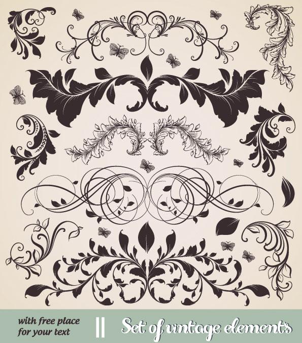 欧式,经典,花纹,花边,线条,花瓣,矢量图,设计素材,eps格式