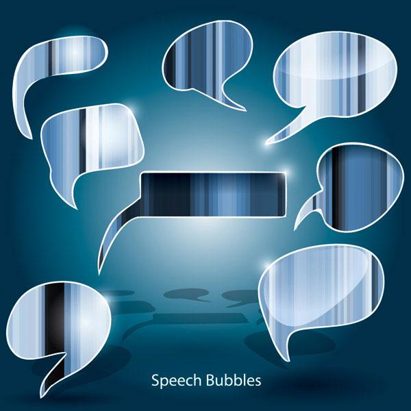 竖纹,对话框,对话泡泡,透明,五颜六色,评论,矢量图,设计素材,eps格式