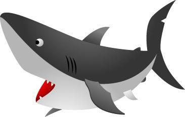 卡通海洋动物 鲨鱼psd素材,卡通鲨鱼图片素材,免费鱼类psd图片下载