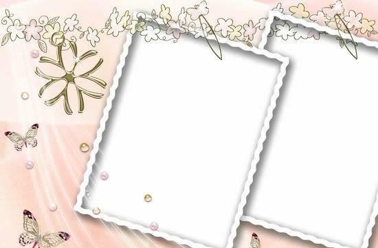 浪漫风格相框模板psd源文件(20)-相框边框psd素材-psd
