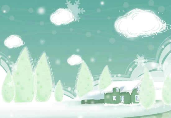 卡通冬季风景psd素材,冬季风景图片素材,免费psd冬季风景模板下载