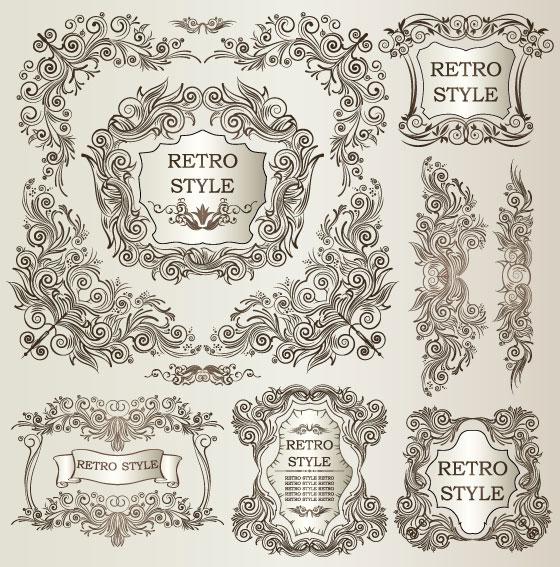 经典,欧式,花纹,花边,纹样,样式,边框,边角,矢量图,设计素材,eps格式