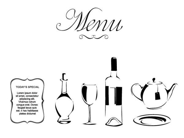 欧式,西餐,图案,酒瓶,高脚杯,水壶,剪影,矢量图,设计素材,eps格式
