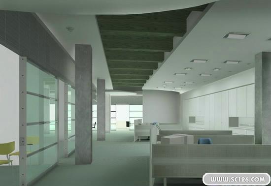 办公室装修效果图psd模板-房地产设计素材-psd素材-素