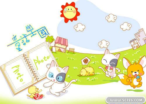儿童相册 卡通图片素材,童话世界儿童卡通psd素材,免费儿童psd素材图片