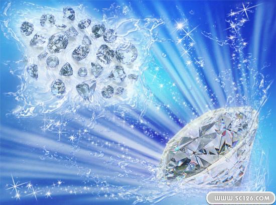 华贵精美钻石psd素材,钻石图片素材,免费钻石psd素材免费下载