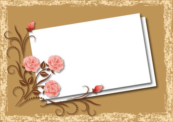 标签:花纹 背景 底纹 纹样 绚丽 花框 矢量图 空白纸板