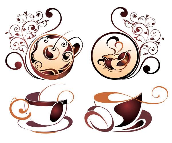 精美咖啡元素04矢量图