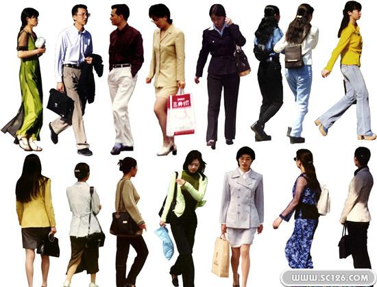 商务男士 逛街女人图片素材,都市行人psd素材免费下载,免费人物psd