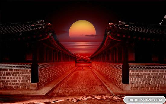 古典建筑中国风psd素材