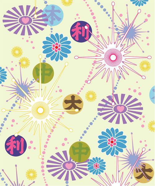 可爱,花朵,背景,矢量图,设计素材,eps格式