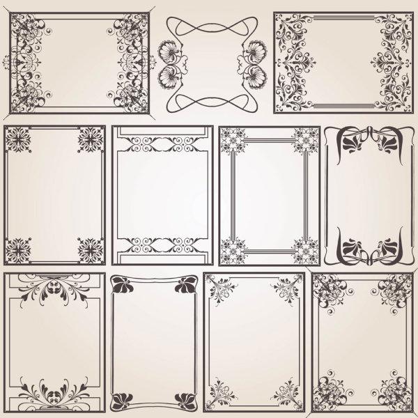 老式,欧式,花纹,花边,边框,线稿,矢量图,设计素材,eps格式