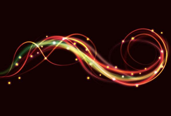 绚丽,特炫,霓虹灯,动感,流线,色彩,幻彩,特效,矢量图,设计素材,eps