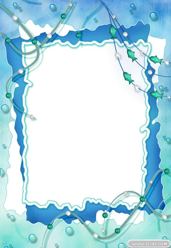 精美竖版相框psd模板,竖版相框设计 边框图片素材,免费相框psd模板