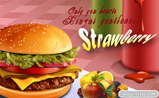 汉堡包广告设计psd素材免费下载,麦当劳 肯德基汉堡包图片素材,免费