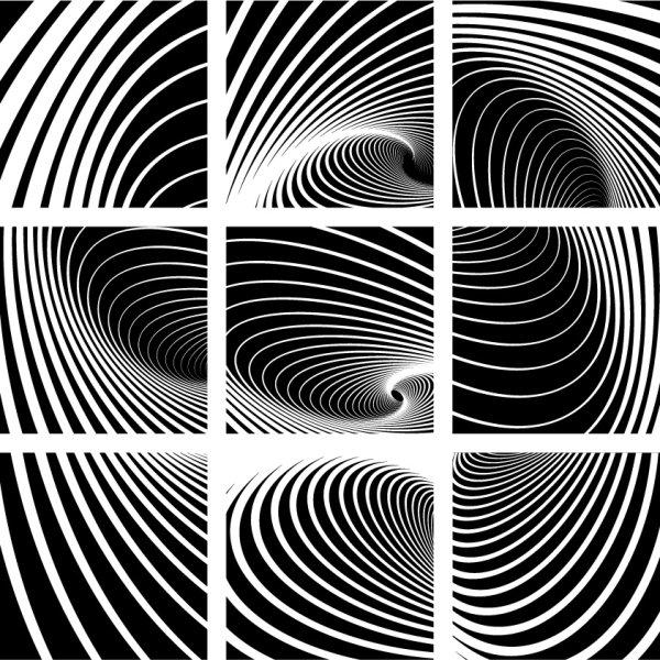 动感,黑白,螺旋纹,花纹,漩涡,线条,矢量图,设计素材,eps格式