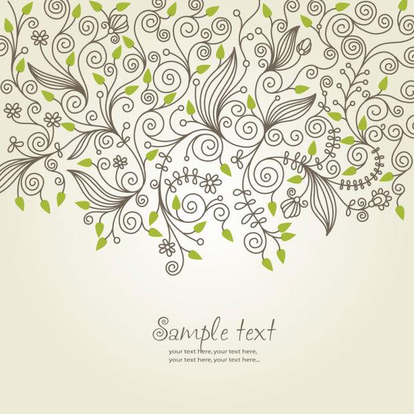 古典,花纹,线条,手绘,线稿,背景,矢量图,设计素材,eps格式