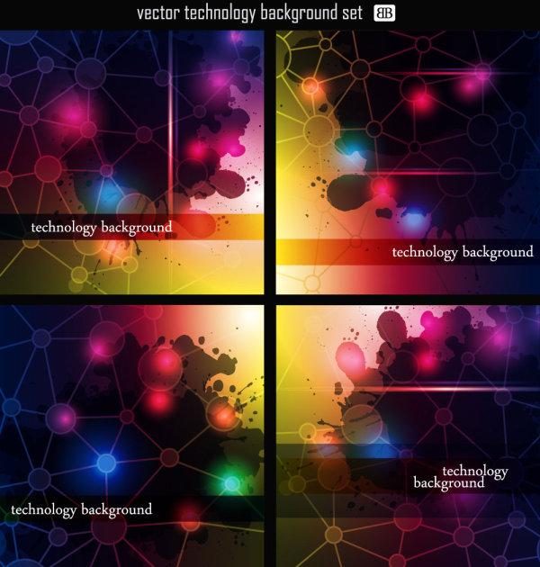 彩色光晕矢量图1