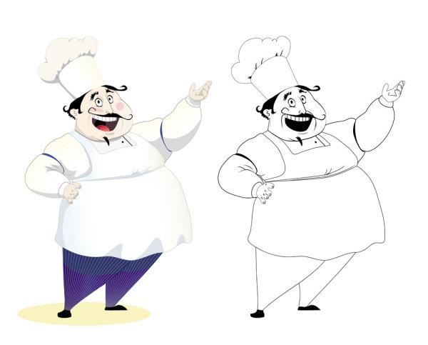 卡通人物形象厨师矢量图8