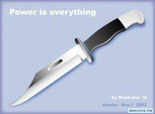 Illustrator 10 实例之:刀(1)