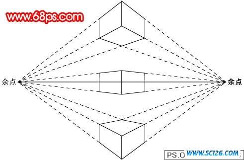 正方形透视步骤图
