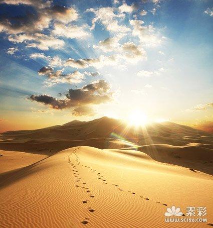 沙漠黄昏图片素材