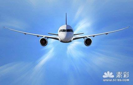 飞行中的飞机图片素材-6
