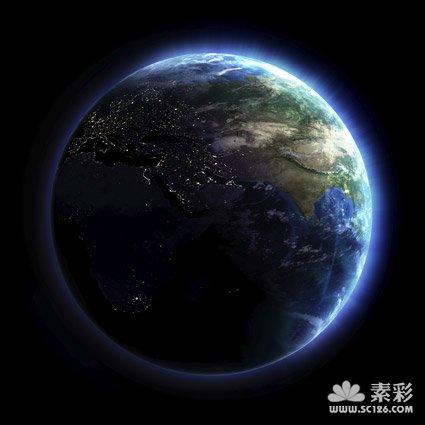 发光的地球图片素材